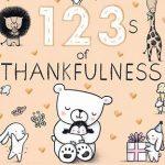 123s of Thankfulness (board book)